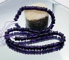 "NATURAL PURPLE AMETHYST CARVED BEADS STRAND BRAZIL 10mm 15.75"" STRAND AAA+++"