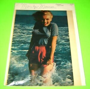 VINTAGE ORIGINAL MARILYN MONROE CENTERFOLD 2 PAGE LIFE MAGAZINE PRINT