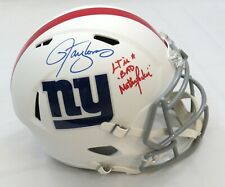 LAWRENCE TAYLOR SIGNED MATTE WHITE GIANT FULL SIZE HELMET w/BAD MOFO INS BECKETT