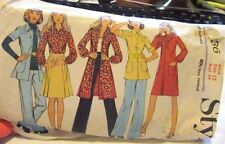 Vintage Original 60's 70's  Ladies  Mixed  Style Sewing Pattern Size 12 Cut