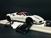 1:18 D&G Davis Giovanni LB Liberty Walk 488 GTB Spider White NO Ferrari BBR MR