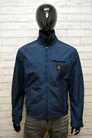 REFRIGIWEAR Uomo Giacca Blu Giubbino Taglia XL Cappotto Giubbotto Jacket Men