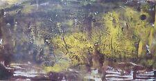 Panero huile sur papier signée 1968 art abstrait abstraction