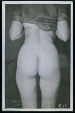 French nude woman upskirt Butt original old 1920s photo postcard