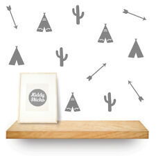 Tribal: Teepee, Arrows and Cactus Shaped Wall Stickers UK seller Free P&P