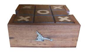 Field Artillery Wooden Tic Tac Toe Solitaire Game FREE ENGRAVING 562