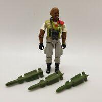 1986 Roadblock Vintage GI JOE Action Figure HASBRO BONUS Missiles and Binoculars