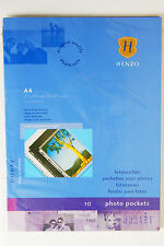 """HENZO A4 PUNCHED POCKETS HOLDS 20 21x30cm/ 8x12""""/A4 / PHOTOS  (BLACK)"""