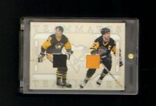 2004-05 IN THE GAME MARIO LEMIEUX/PAUL COFFEY DUAL JERSEY GOLD SP MINT PENGUINS