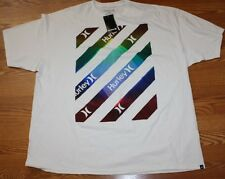 NWT Mens HURLEY White Multi-Colored Graphic T-Shirt Size M Medium