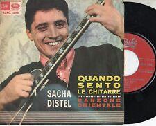 SACHA DISTEL in ITALIANO disco 45 g.MADE in ITALY 1965 QUANDO SENTO LE CHITARRE