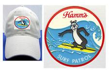 HAMM'S SURF PATROL BEAR BEER LABEL BALL CAP