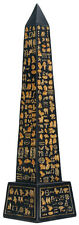 Ancient Egyptian Black Obelisk with Egypt Gold Hieroglyph Collectible Gift New