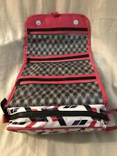 """COSMETIC BAG, Hanging, Travel Roll, w/4 Zippered Areas from """"ITS A GOOD DAY""""NEW"""