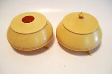 Vintage French Ivory Hair Receiver and Powder Jar - 1920s
