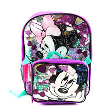 """Disney Minnie Mouse 16"""" inches backpack & Lunch Box For Kid BRAND NEW"""