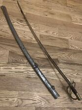 RARE IDENTIFIED CIVIL WAR PS JUSTICE PRESENTSTION SOLDIERS SWORD - JAMES CLARKE