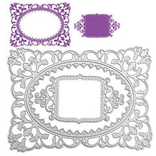 Flower Border Metal Cutting Dies Stencil Scrapbooking Album Card Embossing Art