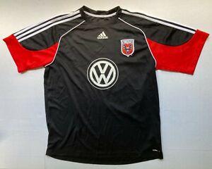 Adidas DC United VW MLS Mens XL Soccer Futbol Jersey Climalite Black Tradition
