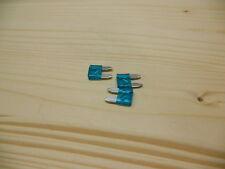 Flachsicherung 10mm 15A blau Mini Autosicherung KFZ Sicherung 2 bis 20Stück