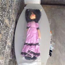 Vintage 70's  bambola   Tipo Panno Lenci Stoffa dolls 60 centimetri