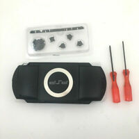 BLACK Replacement Shell Full Housing Case Cover Buttons Kits For Sony PSP 1000