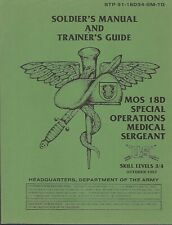 Historical book for Soldier's Manual 18D Special Forces Operations Medical Sgt