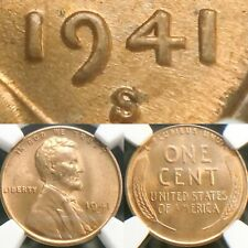 1941-S DDO-002 NGC MS 65 RD Uncirculated Doubled Die Lincoln Cent Wheat Penny