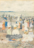 On the Beach by Maurice Brazil Prendergast 60cm x 43cm Art Paper Print