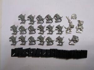 Warhammer Lizardmen- 20x Skink Unit. Classic metal and plastic. OOP