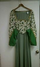 Renaissance Dress and Hat, Medieval, Cosplay, Reenact, Theater, Custom Made