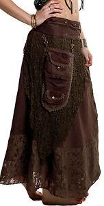 STEAMPUNK SKIRT, Grunge skirt, Gothic skirt, GEKKO skirt, festival clothing
