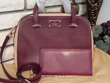 KATE SPADE MULLEDWINE SMALL FELIX LEATHER PURSE & LARGE STACEY WALLET NWT