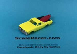 Yellow 1969 Chevy El Camino  Body for Aurora Tjet type chassis