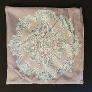 "Mandala Pillow Decorative Cover Square 17"" x 17"" NEW"