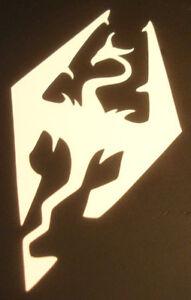 Skyrim Logo Contour Cut Vinyl Sticker - (White)