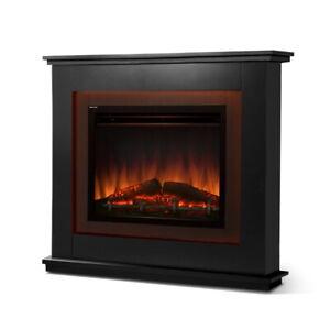 Devanti 2000W Electric Fireplace Mantle Portable Fire Heater 3D Flame Effect