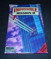 "1988 Impossible Mission II IBM PC EPYX US GOLD 5.25"" Floppy Disk Version RARE"