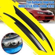 for Subaru Impreza WRX STi X 10th 2008-11 Carbon Fiber Headlight Eyebrow Eyelid