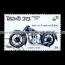 ★ FABRIQUE NATIONALE FN M67 C 1928 ★ LAO LAOS Timbre Moto Motorcycle Stamp #52