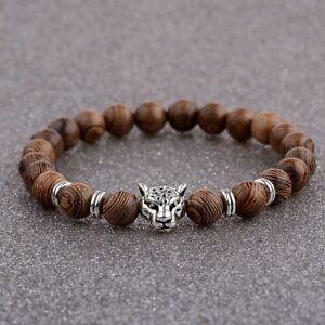 Wooden Beaded Crown Buddha Lion Star War Hamsa Hand Beaded Stretch Bracelets New