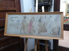 More details for large needlework collage egyptian figures 1930 free shipping to mainland england