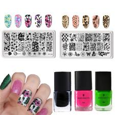 5pcs/Set BORN PRETTY Nail Art Stamping Plate Stamping Polish Spring Theme
