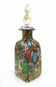 Luxurious Murano Art Glass Millefiori Murrine Perfume Bottle & Certificate