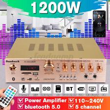 HiFi-Verstärker bluetooth Amplifier 5 Kanal FM Radiotuner USB SD MP3 Player