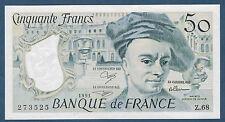 FRANCE-50 FRANCS QUENTIN DE LA TOUR Fayette n° 67.17 de 1991 en NEUF Z.68 273525