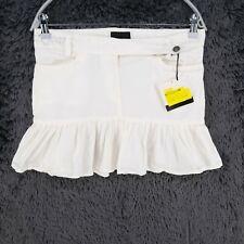Calvin Klein Jeans White Short Pleated Skirt Size 26 27