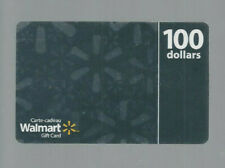 WALMART COLLECTABLE GIFT CARD SILVER 100 DOLLARS
