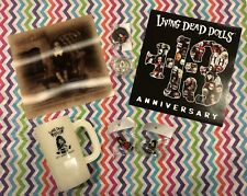 LIVING DEAD DOLLS 13TH ANNIVERSARY PARTY COINS PINS MUG VHTF NEW FREE SHIP