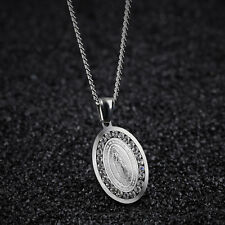 Unisex's Our Lady Of Guadalupe Exorcism Zircon Pendant Chain Necklace Supreme Pr